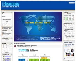 Halaman Utama Website e-learning Kelas Reguler